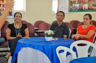 Katlin Machado (Gestora Programa ALI 2), Maria Lucélia Souza (Gerente Sebrae Araripina), Werson e Silva (Gestor do Projeto Gesso)